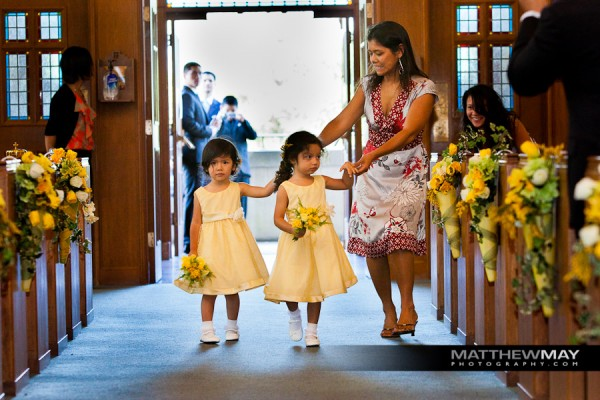 Flower girls with their posies