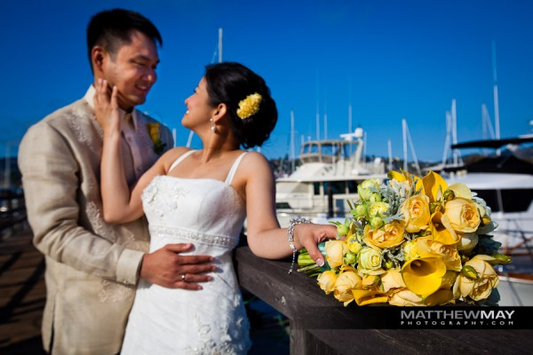 bridal bouquet san francisco bay waterfront