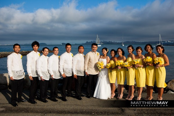 Wedding Party by San Francisco Bay