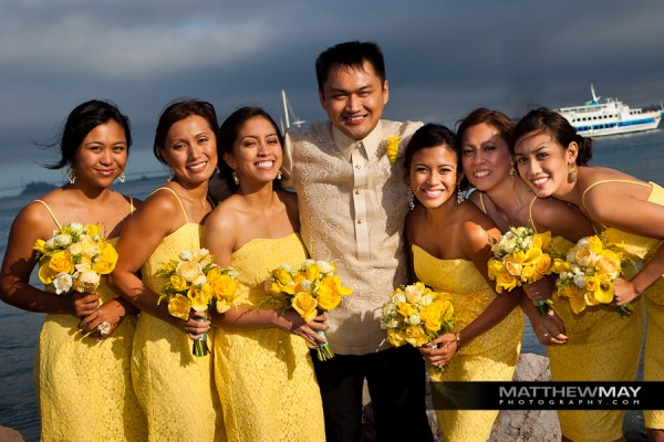 Wedding Party on the Bay