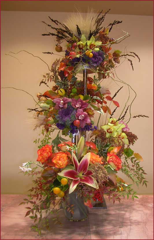 Thanksgiving Floral Celebration ~ 5 feet tall
