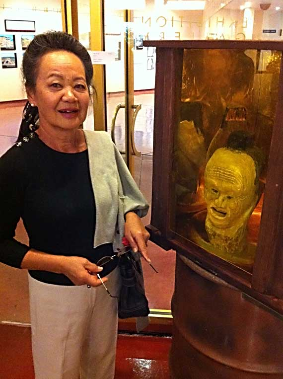 Head Case on display at Marin Civic Center with Yukiko Neibert