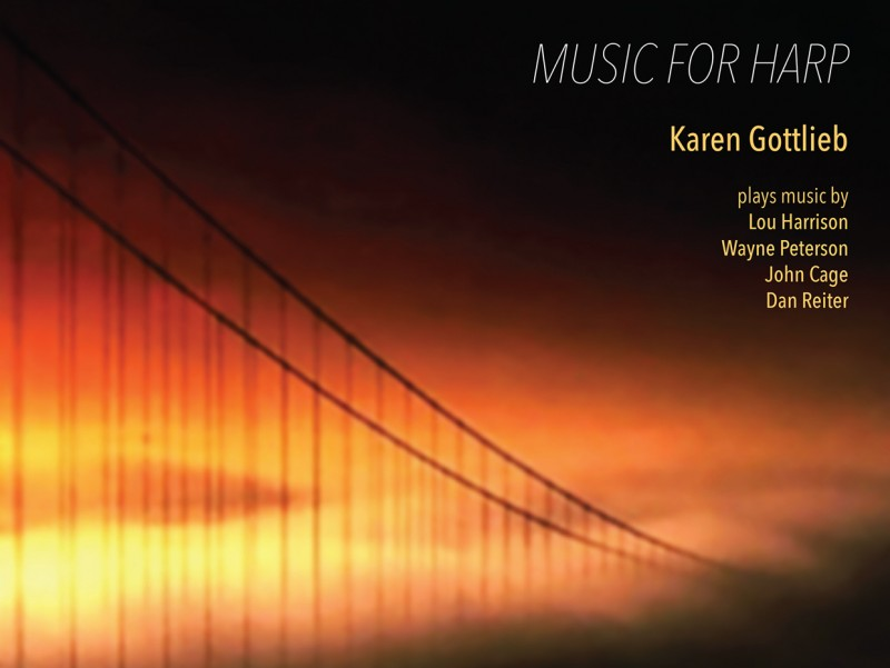 Harp Music by Karen Gottlieb, original photo by Peter Neiber
