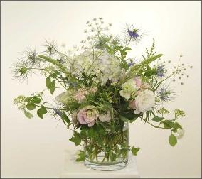 flowers of traditional English Garden blended in bouquet