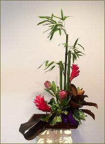 Bamboo ikebana traditional design