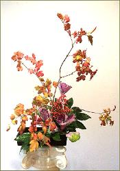 Branches Ikebana with Berries