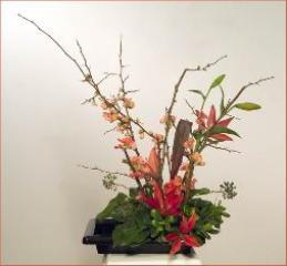 Seasonal branches Ikebana