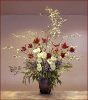 President's Day five foot bouquet: Red, White & Blue