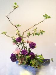 apple blossom ikebana - light