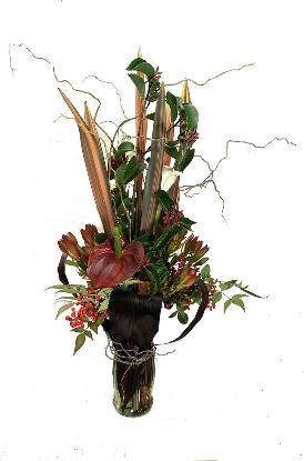 Holiday flowers in Earth Tones