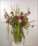 peonies with cala lilies large arrangement