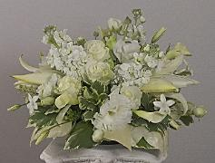 middle of 3-piece flower table center by Yukiko
